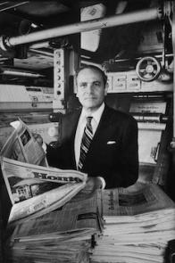 Subject: Arthur Ochs Sulzberger. Publisher of the New York Times. June 30, 1977 Photographer- Dirck Halstead TIme Life Contributer Merlin- 1139618