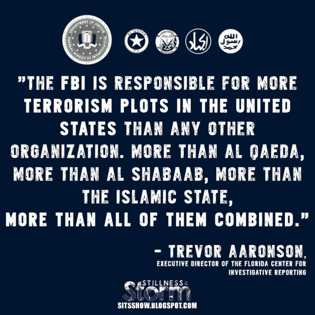 The FBI is responsible for more terrorism plots